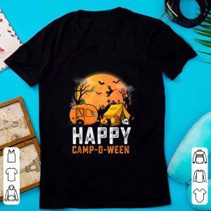 Hot Funny Happy Camp O Ween Camping Halloween Costume Pumpkin shirt