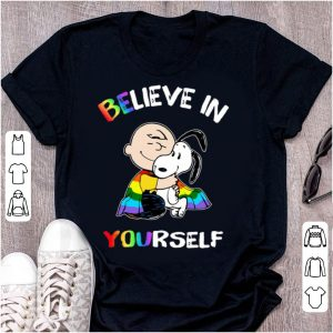 Hot LGBT Charlie Brown And Snoopy Believe In Yourself shirt