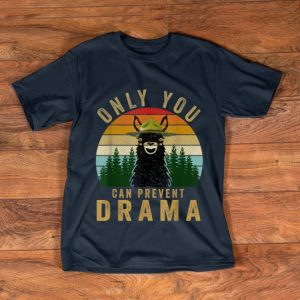 Hot Only you can prevent drama Llama Camping Vintage shirt