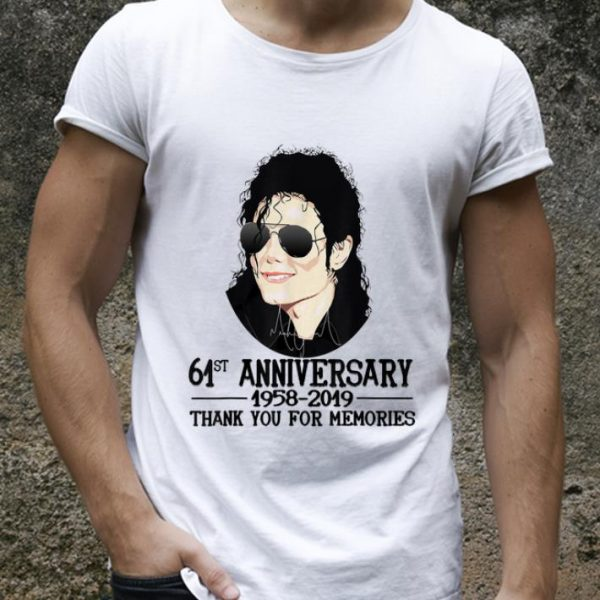 Hot Thank You For The Memories Michael Jackson 61st shirt