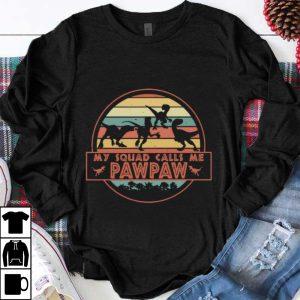 Hot Vintage Dinosaur T-Rex My Squad Calls Me Pawpaw shirt