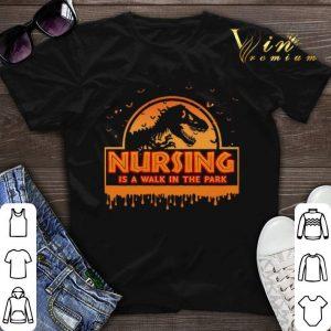 Jurassic park nursing is a walk in the park halloween shirt sweater