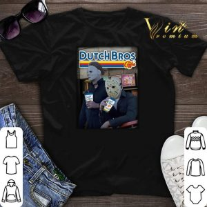 Michael Myers Jason Voorhees drinking Dutch Bros Coffee shirt sweater