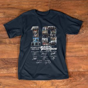 Nice 18 Years Of Fast And Furious 8 Films Signature shirt