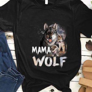 Nice Mama Wolf Family Wolves Moon Mom shirt
