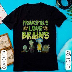 Nice Principals Love Brains - Halloween Zombie shirt