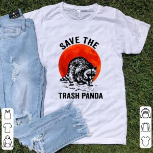 Nice Save The Trash Panda Sunset Racccon shirt