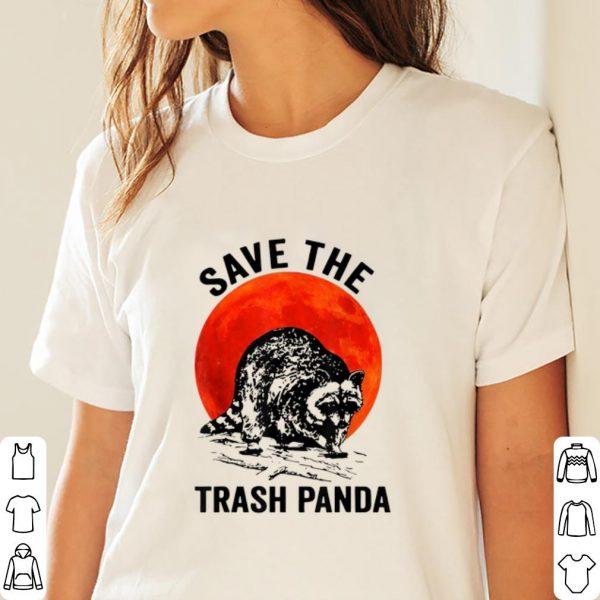 Nice Save The Trash Panda Sunset Racccon shirt