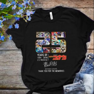 Nice Thank You For The Memories 25 Years Of Detective Conan 1994-2019 shirt