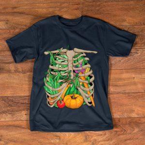 Nice Vegetarian Vegetable Skeleton Halloween Costume shirt