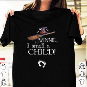 Nice Winnie I Smell A Child Pregnancy Halloween Costume shirt