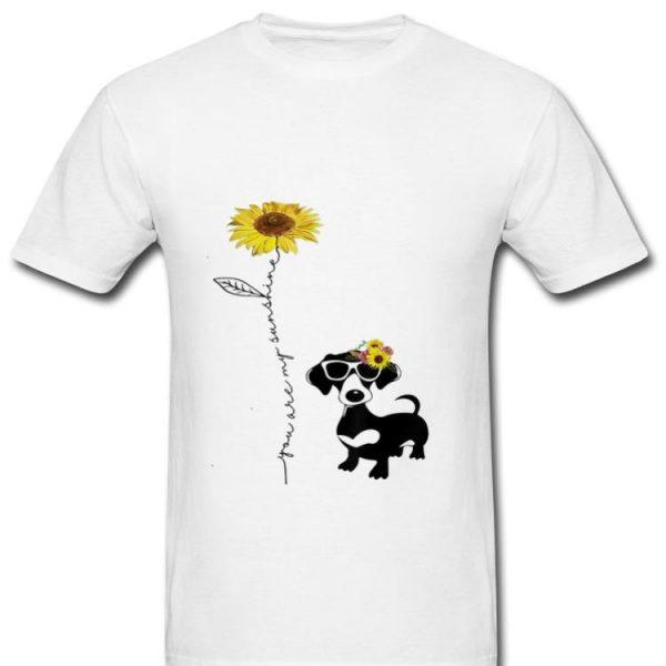 Nice You Are My Sunshine Sunflower Dachshund shirt
