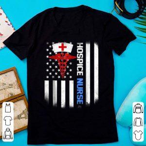 Nice hospice Nurse US Flag shirt