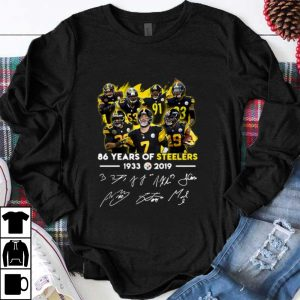 Official 68 Years Of Pittsburgh Steelers 1933-2019 Signature shirt