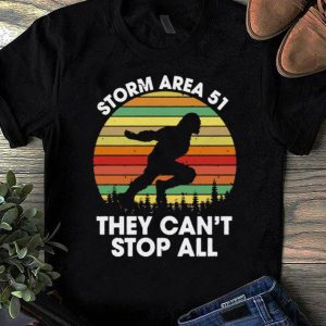 Official Bigfoot Storm Area 51 They Can't Stop All Vintage shirts