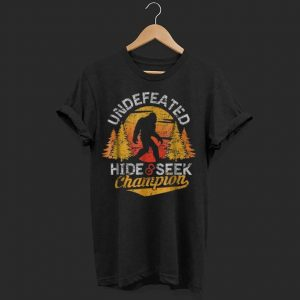 Official Bigfoot Undefeated Hide & Seek Champion shirt