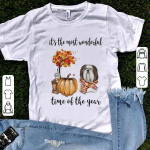 Official Lhasa Apso It's The Most Wonderful Time Of The Year Autumn shirt