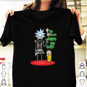 Official We All Set Schwifty Down Here Rick and Morty Pennywise shirt
