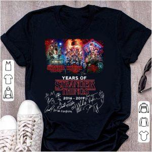 Original 3 Season 3 Years Of Stranger Things 2016-2019 Signatures shirt