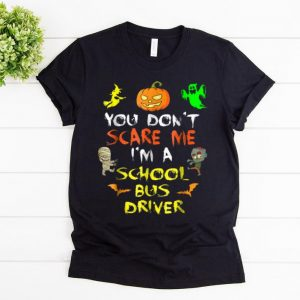 Original Don't Scare Me School Bus Driver Halloween shirt