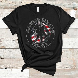 Original Wounded Warrior No One Left Behind American Flag shirt