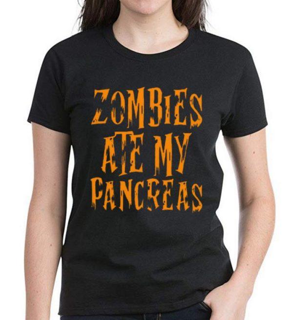 Original Zombies Ate My Pancreas Halloween shirt