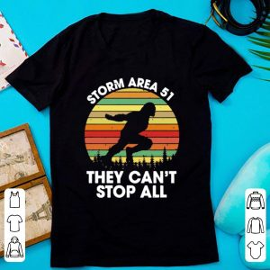 Premium Bigfoot Storm Area 51 They Can't Stop All Vintage shirt