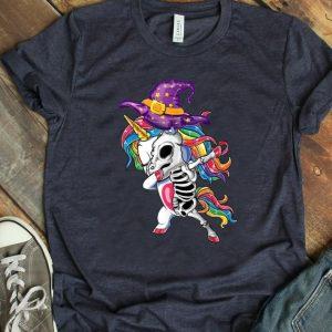 Premium Dabbing Unicorn Witch Skeleton-Unicorn Halloween Costume shirt