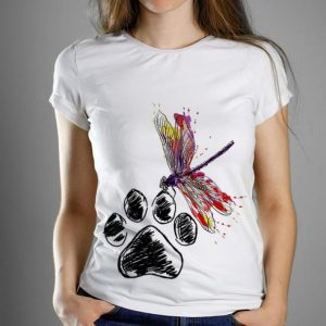 Premium Dragonfly Dog Paw Color shirt