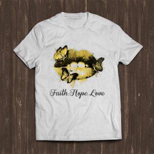 Premium Faith Hope Love Lip Endometriosis Awareness shirt