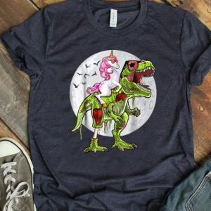 Premium Halloween Unicorn T Rex Dinosaur Zombie Costume shirt