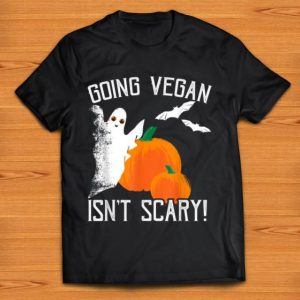 Premium Vegan Halloween Going Vegan Isn't Scary Ghost shirt