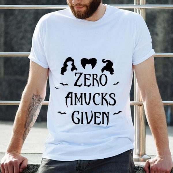 Premium Zero Amucks Given Halloween shirt