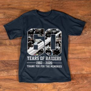 Pretty 60 Years Of Oakland Raiders - Thank You For The Memories shirt