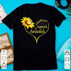 Pretty Childhood Cancer Awareness Flower Butterfly Gold Ribbon shirt