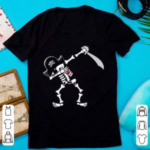 Pretty Dabbing Pirate Skeleton Halloween shirt