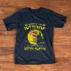 Pretty Flamingo Buckle Up Buttercup You Just Flipped My Witch Switch shirt