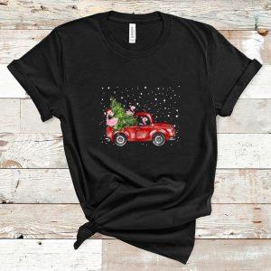 Pretty Flamingo Truck Christmas Tree shirts