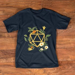 Pretty Geeky Polyhedral D20 Dice Set Plant Nerdy shirt