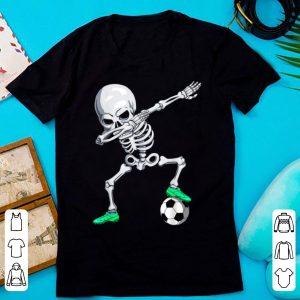 Pretty Halloween Dabbing Skeleton Apparel, Soccer Player Dab Boys shirt