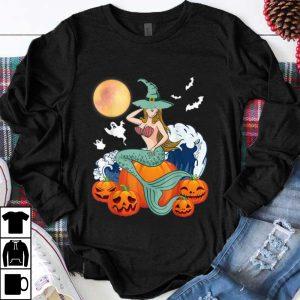 Pretty Happy Halloween Pumpkin Ghost Mermaid Witch Scary Moon shirt