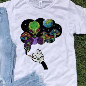 Pretty Mickey Mouse Smoke Weed Alien And Mushroom shirt
