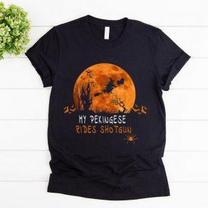 Pretty Pekingese Rides Shotgun Halloween Costume shirt