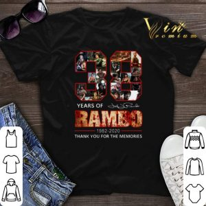 Thank You For The Memories 38 Years Of Rambo 1982-2020 Signature shirt