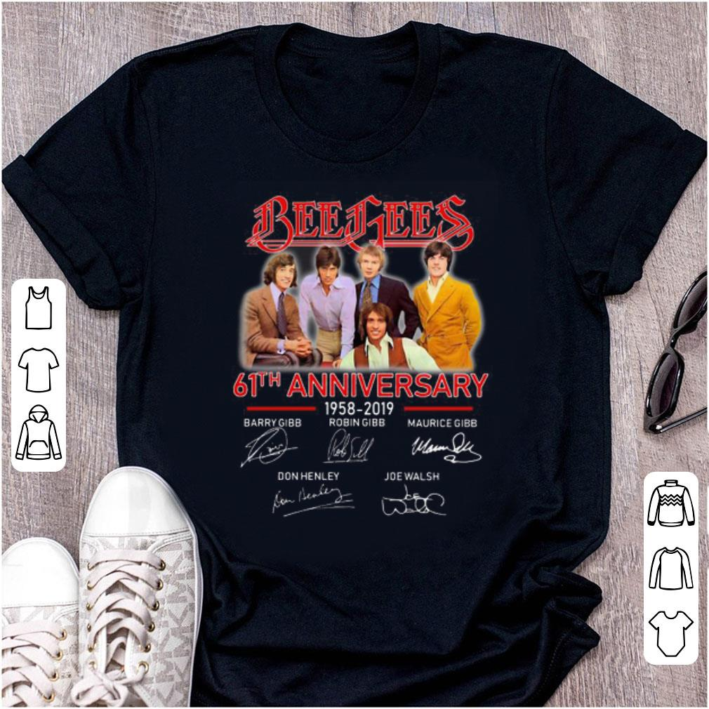 Top Bee Gees 61th Anniversary 1958 2019 Signatures shirt 1 - Top Bee Gees 61th Anniversary 1958-2019 Signatures shirt