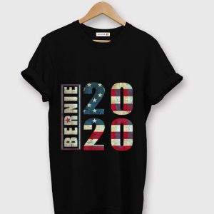 Top Bernie 2020 American Flag shirt