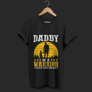 Top Daddy Of A Warrior Childhood Cancer Awareness shirt