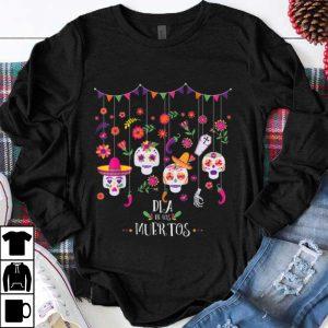 Top Dia De Los Muertos Day Of The Dead Hanging Skulls Halloween shirt