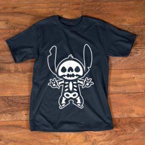 Top Disney Stitch Halloween Skeleton shirt