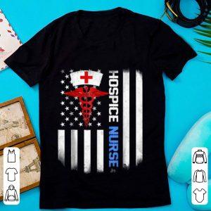 Top Hospice Nurse Us Flag shirt